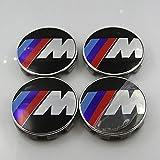 HDCF 4Pcs 68mm Rad-Mitte-Kappen-Rad-Abdeckungs-Aufkleber-Radkappe M Tech-Energie-Sport für BM W E39 E46 E53 E52 Auto-Styling Auto-Logo-Emblem-Abzeichen-Aufkleber