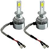 2pcs H1 Ampoules Phares LED, Zloer 3800LM H1 Lampe Ampoule COB pour Kits de Phares pour Voitures, IP65 6500K 36W Conversion de Rechange Auto Eclairage Feu Lumière pour Voiture Véhicule Automobile - H1