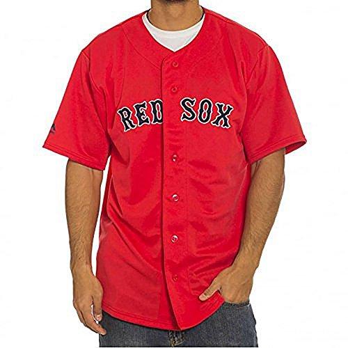 Majestic T-Shirt - MLB Boston Red Sox Jersey rot/schwarz Größe: XL (X-Large)