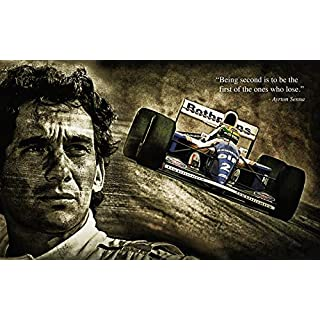 BDP Motorsport Ayrton Senna Quote Formula 1 F1 Legend (1) XXL ONE PIECE NOT SECTIONS! Over 1 Meter Wide Poster Art Print! **SAME DAY SHIPPING**