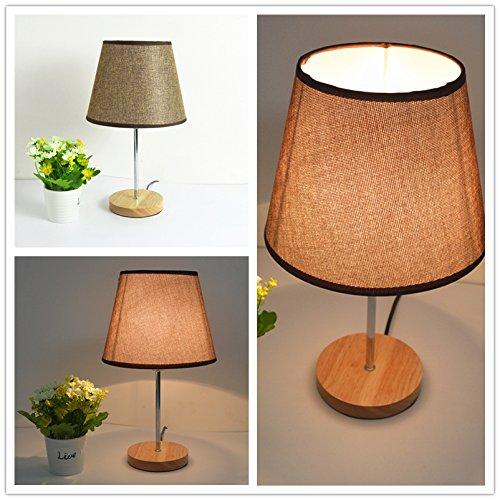 YYHAOGE Einfach Modern Wooden Stoff Holz Lampenlicht Warm Kinder Schlafzimmer Mit Lampe,Kaffee - Wäsche,Dimmer Wechseln - Wäsche Wechseln
