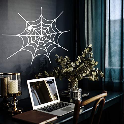 Halloween Spiderwebs - Vinyl-Wand-Aufkleber, Spiderweb, 50,8 x 57,9 cm,