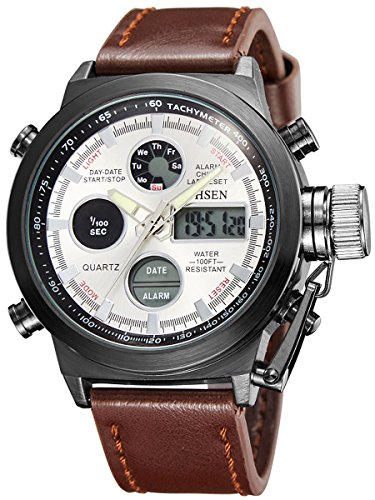 alienwork-analogue-digital-watch-chronograph-lcd-wristwatch-multi-function-faux-leather-silver-brown