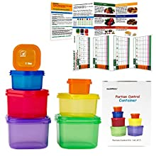 21 Day Fix PORTION CONTROL CONTAINER SET - Portion control containers for weight loss - Portion control kit for diet meal preparation - Simple color-coded no-measuring system for healthy living- GAINWELL