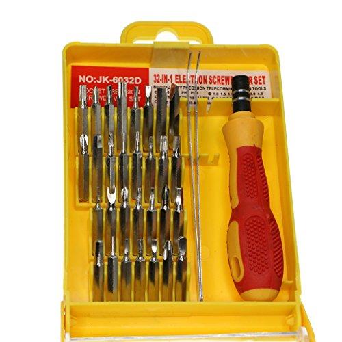 PETSOLA 32 In 1 Elektronische Reparatur für Mobiltelefonen, Kameras, Brillen, Uhren, Autoschlüssel, IPad, Tablet, PC Lapt - Mehrfarbig, 12.5x9x3cm - Brille Elektronische Kamera