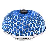 DealMux Car 3 76mm Durchmesser Lufteintritt-Filter Pilz Form Blau-Silber-Ton