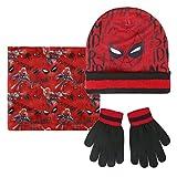 Marvel Spiderman 2200-2542 Set 3 Pezzi, Coordinati Invernali, Cappello, Scaldacollo Multiuso, Guanti, Bambino, Multicolore