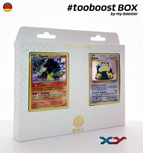 Box #tooboost ZYGARDE et RELAXO - Sonne und Mond - 10 Deutsch Karten Pokemon (Pokemon Karten Original-set)