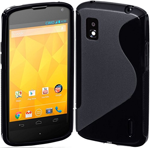S Case Anti-skid Soft TPU Back Case Cover for LG Nexus 4 E960 (Black)  available at amazon for Rs.139