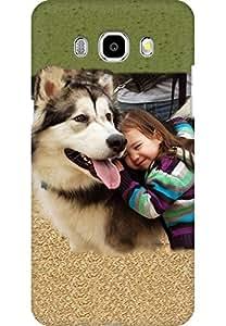 AMEZ designer printed 3d premium high quality back case cover for Samsung Galaxy J7 (2016) (Dog n Girl)
