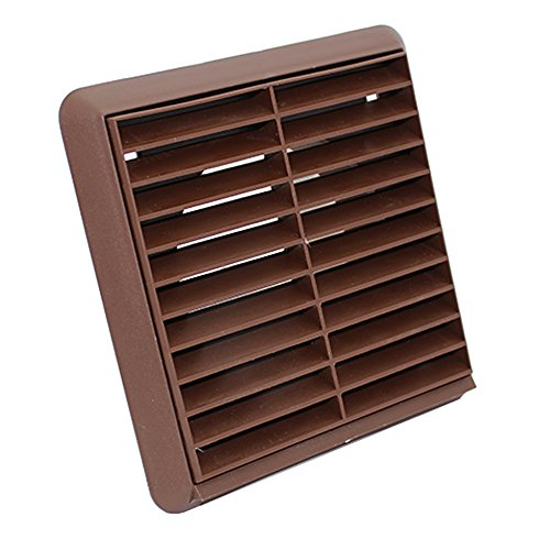 Kair Louvred Air Vent Wall Grille - 5 inch / 125mm Round Spigot - Brown - SYS-125 - DUCVKC268-BR by Kair