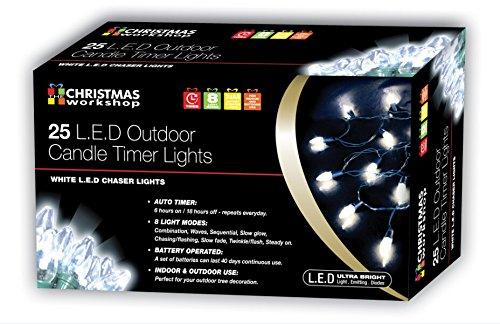 The Christmas Workshop Atelier de Noël LED à Piles Filet Lumineux avec minuteur Bright White