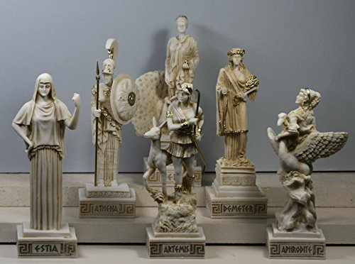 6 grec hiéroglyphe Collection Hestia Aphrodite Hera Athena Artemis Demeter Statue Sculpture
