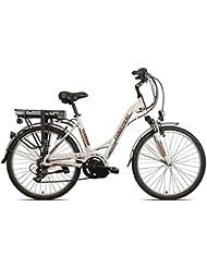 """'Torpado vélo électrique Atena Lady 26""""moteur 8Fun centrale 6V Blanc (City électrique)/Electric Bike Atena Lady 26central Engine 8Fun 6S White (City Electric)"""