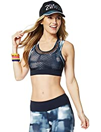 Zumba Fitness Hot In Here Mesh Bra–T-shirt sans manches pour femme