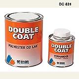 De IJssel Double Coat 2K Bootslack - Farbe staubgrau/DC 831-1 kg Set - (2K Lack, Yachtlack, Decklack) Staub Grau