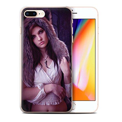 Officiel Elena Dudina Coque / Etui pour Apple iPhone 8 Plus / Reine des Forêts Design / Un avec la Nature Collection Fille de Lune
