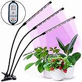 HALUM Pflanzenlampe Grow LED mit Zeitfunktion Pflanzenlicht Wachstumslampe, Automatische Ein- / Ausschalten, 8 Arten von Helligkeit, 27W für Innenpflanzen Gewächshaus Blumen Gemüse