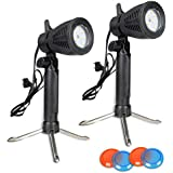 Photography Continuous Led Portable Light Lamp For Table Top Studio With Color Filters, Photography Photo Studio(2 Pack)
