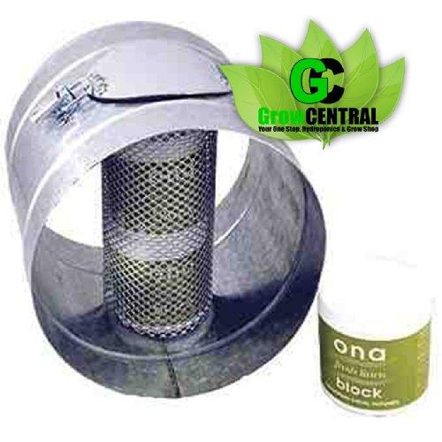 Ona Geruchskontrolle Duct 20,3cm (hält Ona Block) passt auf Lüfter, Filter, Rohrleitungen (Duct Lüfter Air)