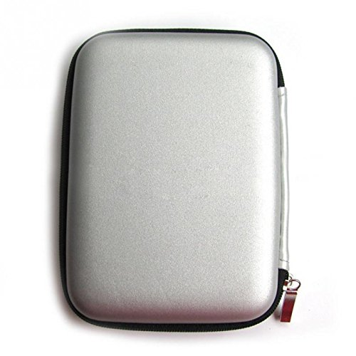 2.5 hard disk esterno portatile custodia per wd/western digital element my passport/seagate expansion backup plus/samsung/toshiba antiurto impermeabile mano hard disk hdd borsa di archiviazione usb power bank, pu eva travel hard