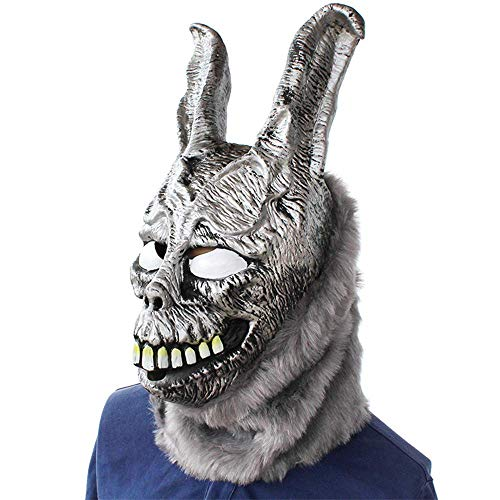 Clown Verkauf Scary Zum Kostüm - MU Masquerade Creepy Scary Halloween Cosplay Kostüm Maske Latex Horror für Unisex Erwachsene Party Dekoration Requisiten Ghost Devil Dancing Head Cover,Wütendes Kaninchen
