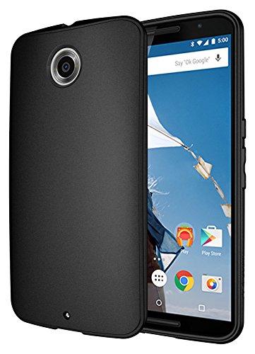 Diztronic NX6-FM-BLK Vollmatte flexible TPU Schutzhülle für Motorola Nexus 6 schwarz (Nexus 6 Slim Case)