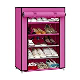 YUTIRITI 5 Layer Shoe Rack with Cover Space Saver Storage Organiser