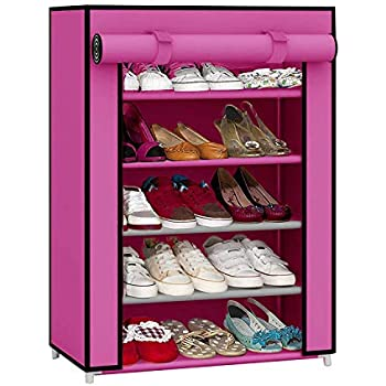 Ebee Shoe Cabinet with 5 Shelves (Pink)