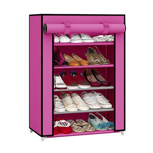 Ebee Shoe Cabinet  5 Shelves, Pink