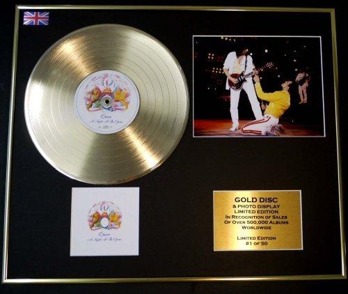 QUEEN/CD Disco de Oro/Disco & Foto Display/Edicion LTD/Certificato di autenticità/A NIGHT AT THE OPERA