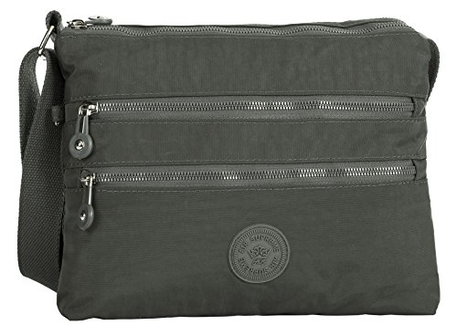 Big Handbag Shop - Borsa a tracolla unisex Dark Grey