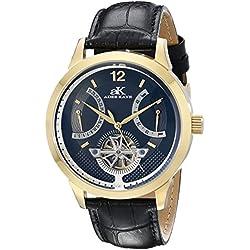 Adee Kaye Herren ak2241-mg/BK PROSPERE Analog Display Automatische selbst wind black watch
