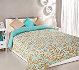 Amazon Brand - Solimo Andy Microfibre Printed Comforter, Double, 200 GSM, Blue
