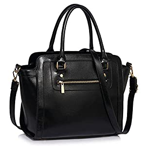 Womens Handbags Ladies Fashion Shoulder Bag Grab Tote Handbags Hot Selling Leesun London Bags Faux Leather Bag