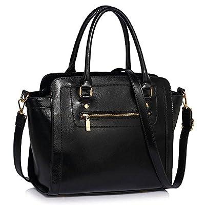 LEESUN LONDON Designer Handbags For Women Shoulder Bag Faux Leather Bag Ladies Tote Bags Large