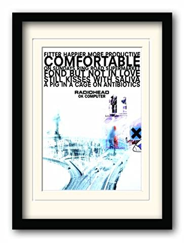 Radiohead Affiche encadrée Ok Computer