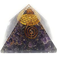 Winmaarc Turmalin orgone Pyramiden-Symbol Blume des Lebens Orgonite Energie Generator mit amethyst preisvergleich bei billige-tabletten.eu
