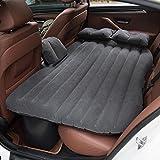 Viktion Auto Bett Luftbett Auto Matratze Aufblasbares Bett Auto Rücksitz mit Luftpumpe Kissen Fußraum-Stütze (scwharz)