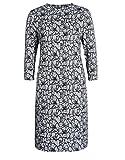 STEILMANN by Adler Mode Damen Bedrucktes Jerseykleid mit Rundhalsausschnitt - Sommerkleid, Coktailkleid, Businesskleid, Stoffkleid Schwarz/Weiß 46