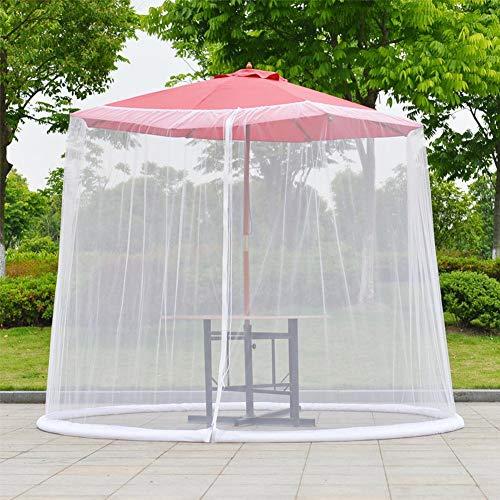 Sonnenschirm-Filetarbeits-im Freienregenschirm-Tabellen-Schirm-Ineinander greifen-Moskito-Wanzen-Insekt-Netz für Patio-Tabellen-Regenschirm-Sonnenschirm Mesh-Gehäusedeckel mit Reißverschluss -