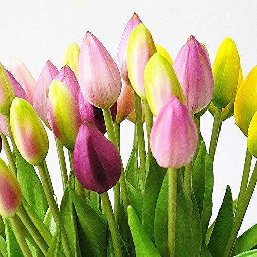 Xinqin Ding 11 Stücke Real Touch Weichen Silikon Künstliche Tulpe Unechte Blume für Zuhause Hochzeit Dekoration Gefälschte Braut Hand Blumen Flores Garten Partyschmuck