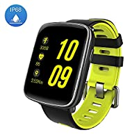 Waterproof Smart Watch - Luxsure Multi-functional Bluetooth Wristwatch to Monitor Heart Rate & Pedometer for iPhone X iPhone 8 7 7Plus Samsung s8 and Other IOS & Android (Green)