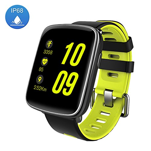 Smart Watch Sport Fitness Tracker - Luxsure IP67 Waterproof Step Counter Activity Tracker Heart Rate & Sleep Monitor Bluetooth 4.2 Touch Screen Wristband for IOS / Android Smartphones (Green)