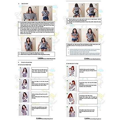 51ncMWG3ZDL. SS416  - Lictin Fular Portabebés Elástico Portador de Bebé ;Pañuelo de algodón;Unisex;Para padres