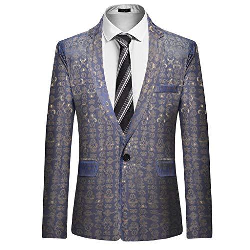 Herren Blazer Herbst/Winter Slim Langarm Anzug Jacke Trenchcoat Top Bluse - Kleidung Resistent Kälte