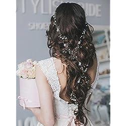 Tocado para el cabello de novia - pelo suelto