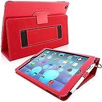 Snugg iPad Air Caso (Rosso), Copertina in Ecopelle Intelligenti, Rivestimento Interno di Qualità in Nabuk, Supporto Flip-stand con una Garanzia a Vita per Apple iPad Air
