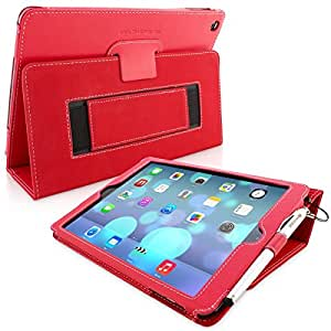 Étui iPad Air, Snugg™ - Coque de Protection Rouge, Style Smart Case Avec Garantie à Vie Pour Apple iPad Air (iPad 5)