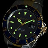 """Gigandet Herren Automatik-Armbanduhr """"Sea Ground"""" Analog Edelstahlarmband Blau Gold G2-001 - 5"""